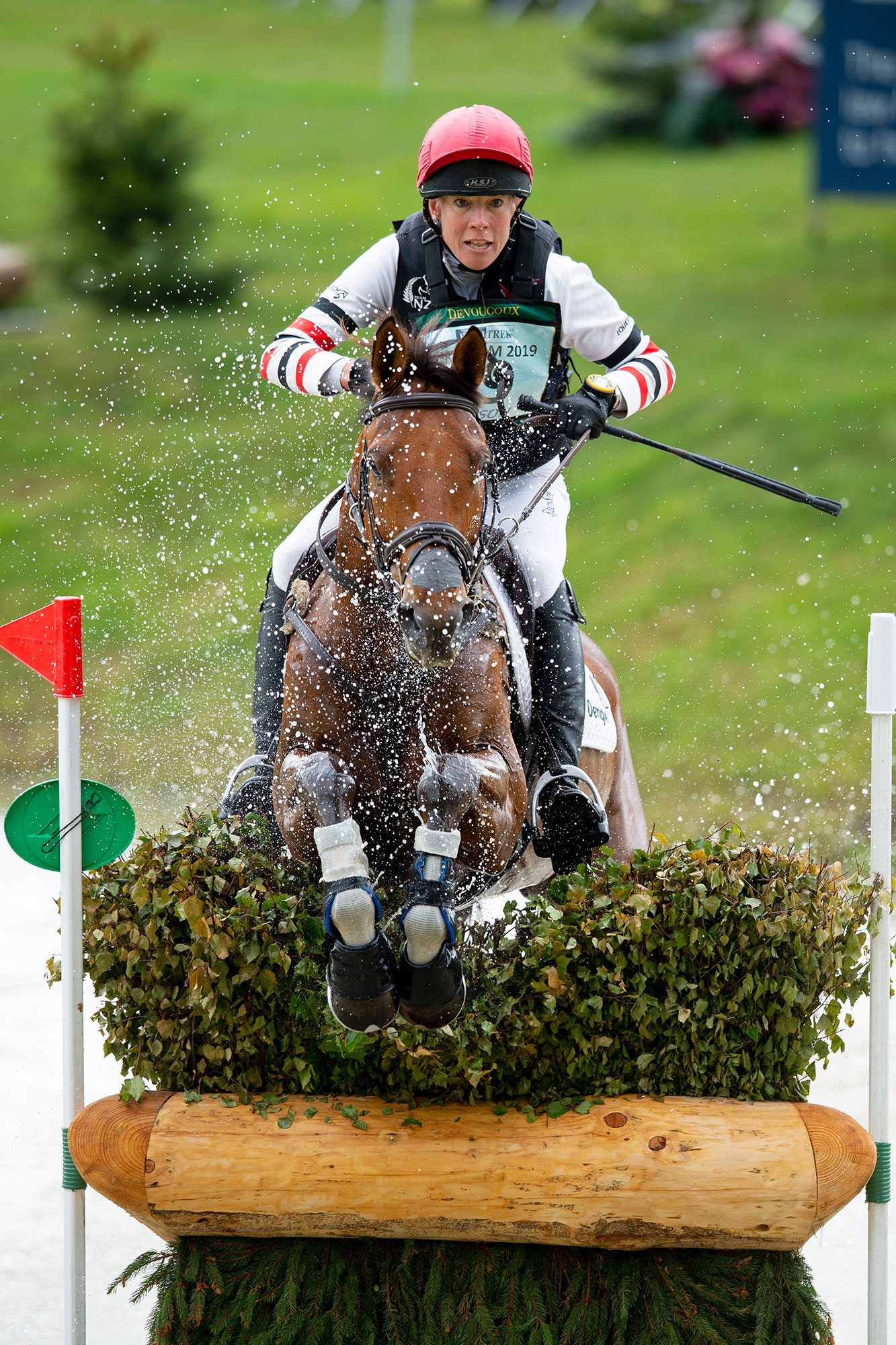 Lucy Jackson and Superstition at Bramham Horse Trials Water Jump